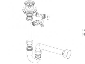sifon simplu Kerrock - UM90