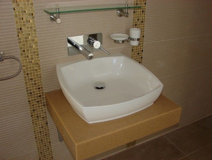 Blat baie din material compozit pentru lavoar din portelan Kerrock