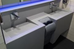 Lavoare Antonio Lupi din material compozit pentru grup sanitar comercial