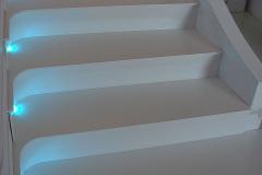 Placare trepte prin termoformare din material compozit