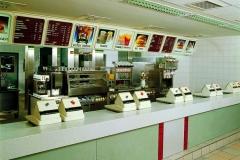 tejghea din material compozit pentru receptie fast-food